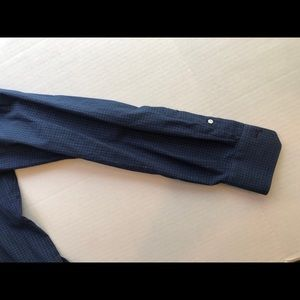 Isaia Shirts - Navy Check 15x35 Spread Cutaway Collar Slim Fit